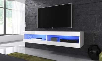 Image Pour Meuble Tv Volanti Led 150cm Salon Meuble Tv