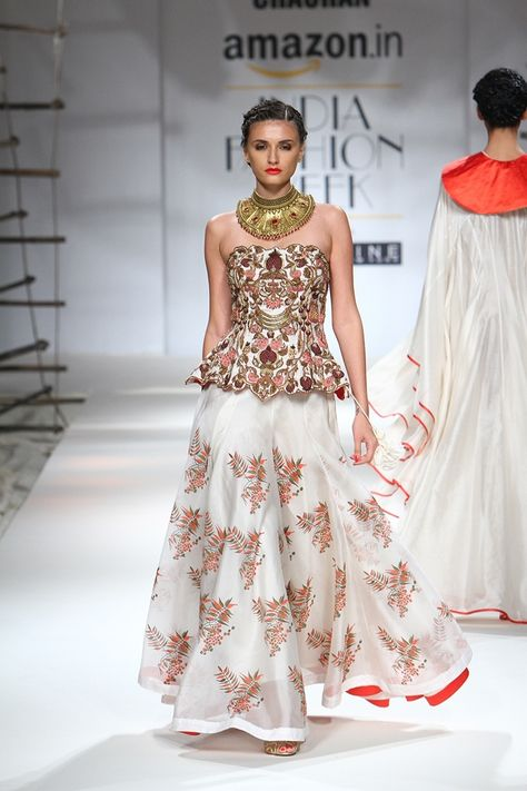 """""""Evening Gown for Queen Miraj Scintel Samant Chauhan, Spring 2016 """""""