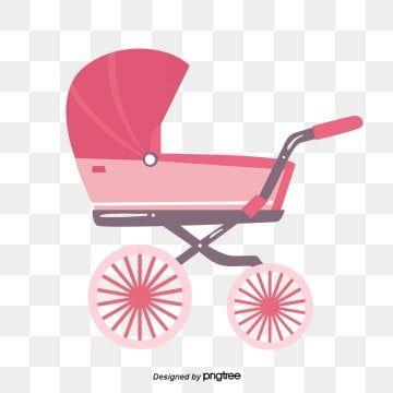 كارتون عربة طفل كرتون وردي عربة أطفال Png وملف Psd للتحميل مجانا Baby Cartoon Baby Strollers Stroller