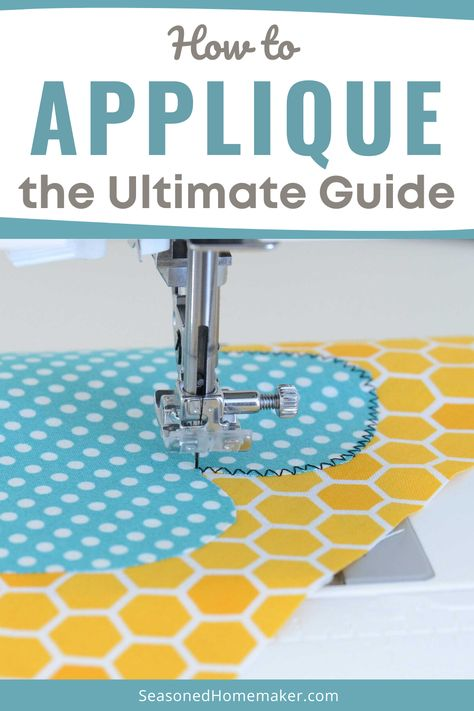 Appliqué is a fun way to express yourself with fabric. Learn How to Applique by following these simple steps. It's easier than you think. #howtoappliqueforbeginners #howtoapplique #howtoappliquewithsewingmachine #funappliqueprojects #appliquewithscraps Sewing Basics, Sewing Hacks, Sewing Tutorials, Sewing Crafts, Sewing Patterns, Patchwork Patterns, Skirt Patterns, Dress Tutorials, Coat Patterns