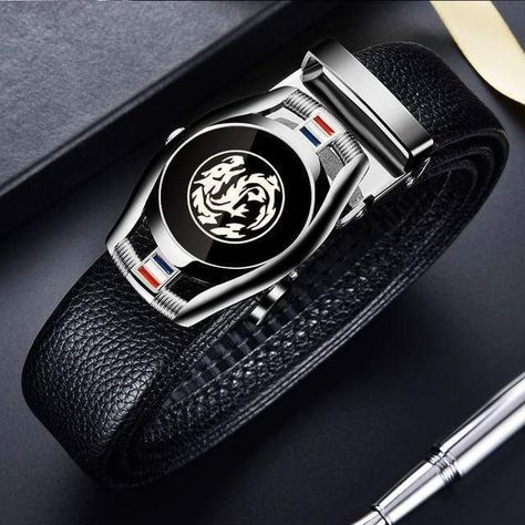 Belts for 3.5cm Width Sports Car Brand Fashion Automatic Buckle Black Genuine Leather Men's Jeans High Quality Waist Male Strap