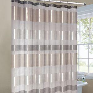 Extraordinary Beige Striped Shower Curtain Photos   Best Inspiration .