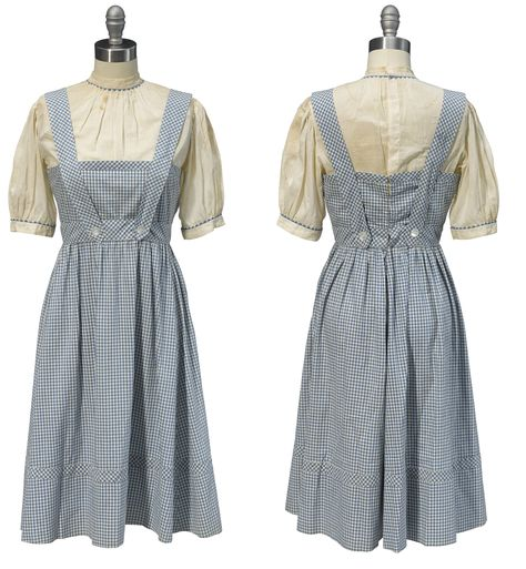 The costume worn by Judy Garland in The Wizard of Oz (SWNS)