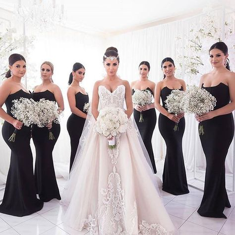 Black bridesmaid dresses, Unique strapless mermaid bridesmaid dresses, Simple cheap bridesmaid dresses, · BellaBridal · Online Store Powered by Storenvy
