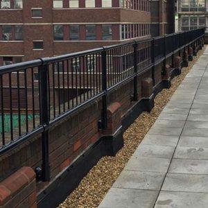 Infill Panels On Parapet Railing Parapet Railing Membrane Roof