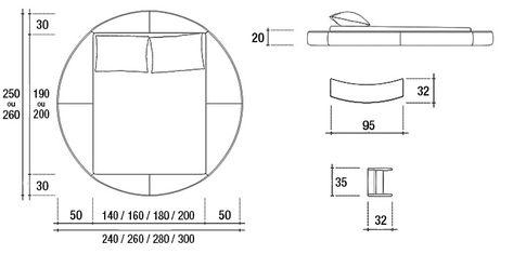 Dimensions Du Lit Design Anator Lit Rond Chambre Design Design