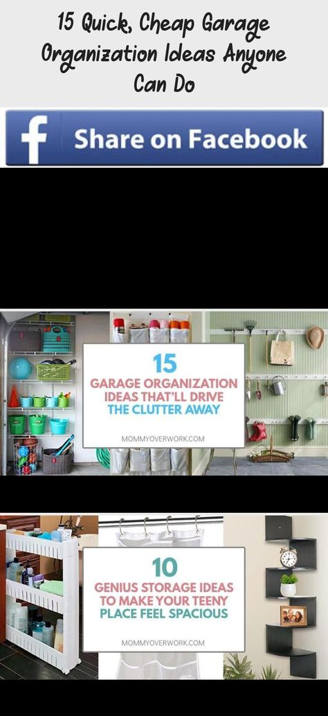 15 Quick, Cheap Garage Organization Ideas Anyone Can Do  EASY DIY GARAGE ORGANIZ...  15 Quick, Cheap Garage Organization Ideas Anyone Can Do  EASY DIY GARAGE ORGANIZATION IDEAS on a bu #cheap #DIY #Easy #Garage #Ideas #organiz #Organization #Quick