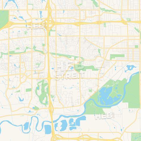 Empty Vector Map Of West Des Moines Iowa Usa Streit
