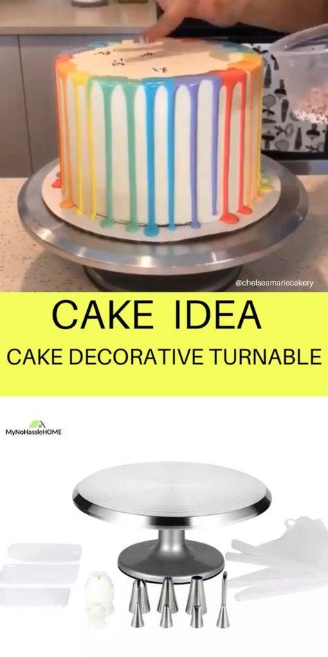 Simple Birthday Cake Designs, Birthday Cake For Women Simple, Cake Designs For Kids, Simple Cake Designs, Beautiful Cake Designs, Cake Decorating Frosting, Cake Decorating Designs, Cake Decorating For Beginners, Cake Decorating Videos