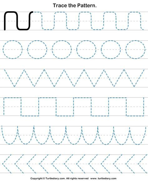 Free Drawing Patterns To Trace Tracing Worksheets Preschool Preschool Tracing Pattern Worksheet