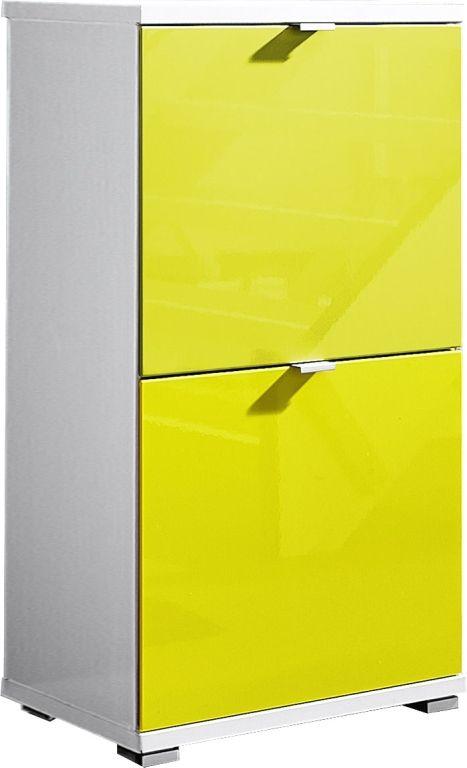 Schuhschrank Colorado Weiss Gelb Schuhschrank Schrank Und Mobel Shop
