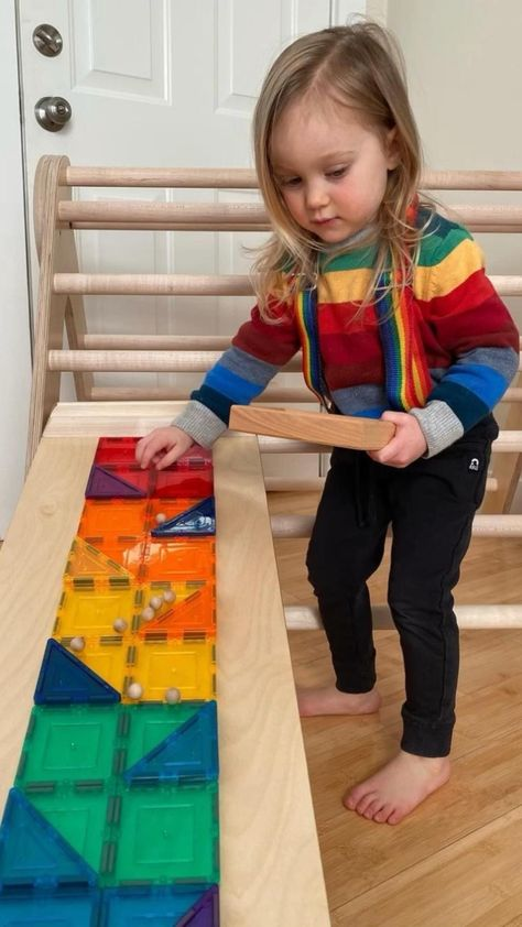PicassoToys PicassoTiles Magnetic Tiles DIY Marble Run Play Idea Submitted By @bringingupbabe