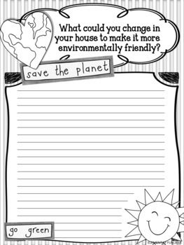Earth Day Writing Prompt Reduce Reuse Recycle Recycling Importance Of Persuasive Essay