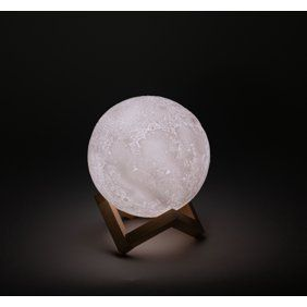 3d Printed Moon Lamp With Stand 6 Inches Dimmable Rechargeable Touch Led Night Light Walmart Com In 2020 Led Night Light Night Light Game Room Furniture