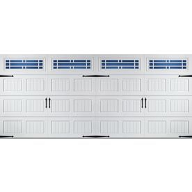 Pella Carriage House 192 In X 84 In Insulated White Double Garage Door With Windows Lowes Com Garage Door Windows Garage Doors Double Garage Door