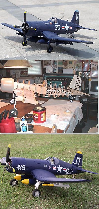 RC Plans Templates and Manuals 182212: Large 1 8 Scale F4u-1