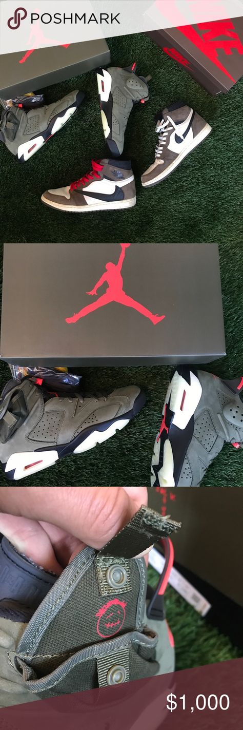 Travis Scott x Air Jordan 6 Retro Olive 2019 Travis Scott x Air Jordan 6 Retro Olive 2019  Brand new, deadstock (Won raffle on SNKRS)  Size 10   One of the best collabs to date between Travis Scott and Jordan. Not a fan of the 6s, but this shoe is absolute heat 🔥🔥🔥  Only looking to sell, not open to trades.   Feel free to send offers, but lowballs will be ignored (you will not be missed lol)   Thanks.   #jordan #travisscott #nike Jordan Shoes Sneakers