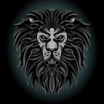 Rezyume Afrika Zhivotnoe Iskusstvo Spravochnaya Informaciya Zver Chernyj Koshka Tvorcheskie Opasnost Ukrasheniya Dizajn Risunok Lion Illustration Lion Art Lion Vector