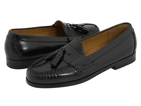9e8d2c4b68b Cole Haan Pinch Tassel (Black) Men s Slip-on Dress Shoes. Traditional tassel  loafer in a genuine handsewn-on-the-last moccasin construction.