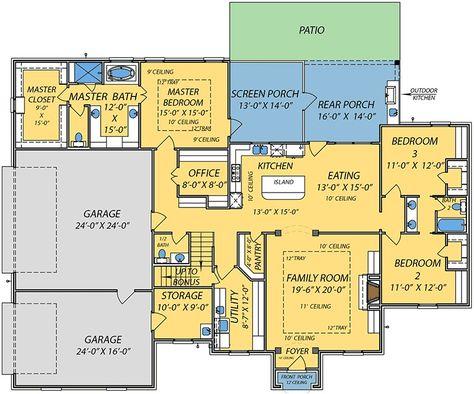 Plan 83877JW: Southern House Plan with Plenty of Storage