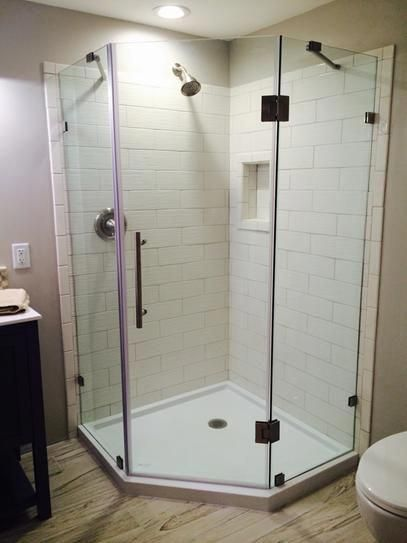 Neoscape Completely Frameless Neo Angle Shower Enclosure Clear