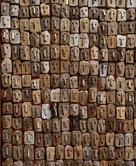 Mark Bourlier is a French artist who started using driftwood to compose his images in 1995, using scraps of wood to create a comment...