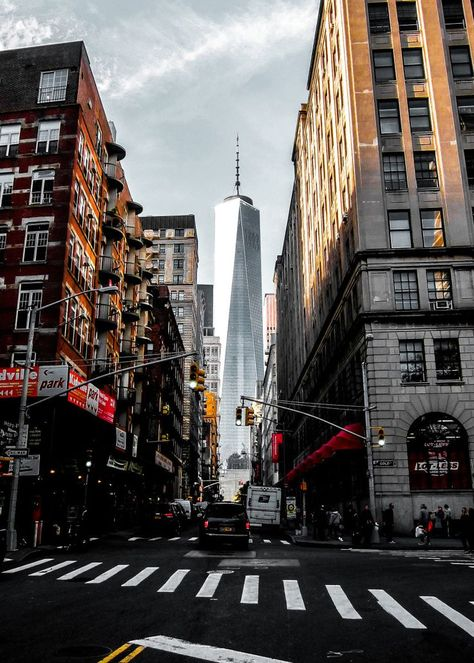 Lower Manhattan One WTC Mini Art Print by Nicklas Gustafsson - Without Stand - x Lower Manhattan, Manhattan New York, Manhattan Skyline, Manhattan Drink, Manhattan Apartment, New York City Apartment, City Aesthetic, Travel Aesthetic, Landscape Photography
