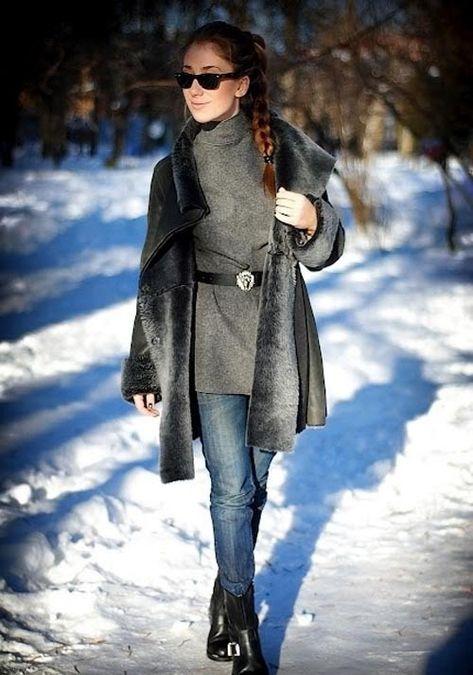 Модные зимние дубленки – 2019