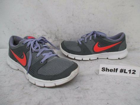 4fda46cb4313f Nike Air Gray Purple Peach Running Shoes Sneakers Women's Size 8 ...