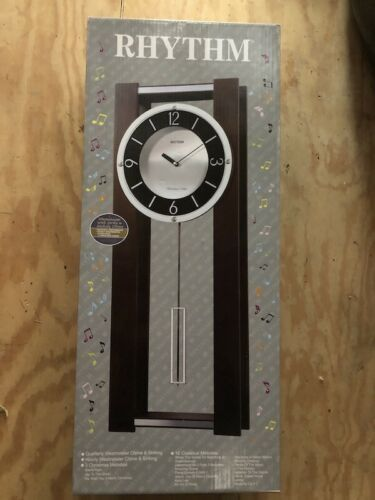 Rhythm Cmj541ur06 Contemporary Chiming Wall Clock Wall Clocks Ebay Link In 2020 Clock Wall Clock Chiming Wall Clocks