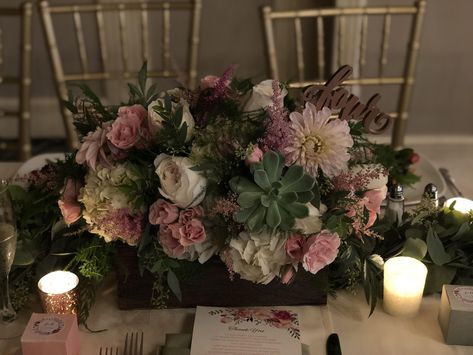 #weddingflowerideas #blush #dustyrose #roses #greenery #eucalyptus #flowerbox #floralcenterpiece #floralarrangement #springwedding #springweddingflowerideas #springweddingcolors #succulents #floristideas #receptiondecor #weddingflowers #summerwedding #summerweddingflowers #gold #votives #tablenumbers #ronjaworskiweddings #blueheronweddings #njbride #njreceptionvenue #njballroom #guesttableideas #coastalwedding