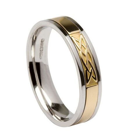 Friends of Irony Tungsten Carbide Tribal Cross Ring Wedding Band Anniversary Ring for Men and Women 8mm