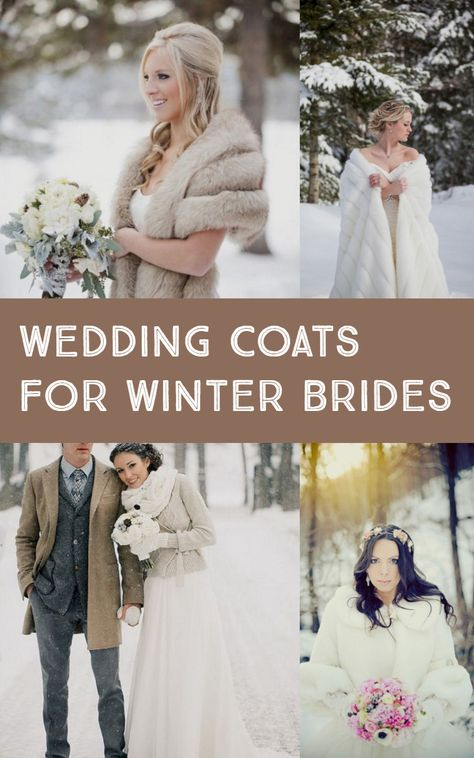 Awesome Wedding Coats For Winter Brides (Best 23 Pictures) Winter Wedding Coat, Wedding Cape, Winter Bride, Dream Wedding, Winter Weddings, Rustic Wedding, Outside Winter Wedding, Bling Wedding, Wedding Pins