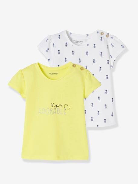 Vertbaudet T-Shirt Fantaisie b/éb/é Fille /à Message