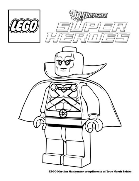 Coloring Page Martian Manhunter Lego Coloring Pages Lego