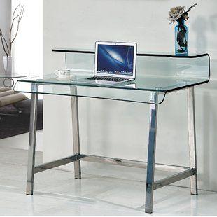 Remarkable Glass Desk In 2020 Glass Desk Office Desk Decor Desk