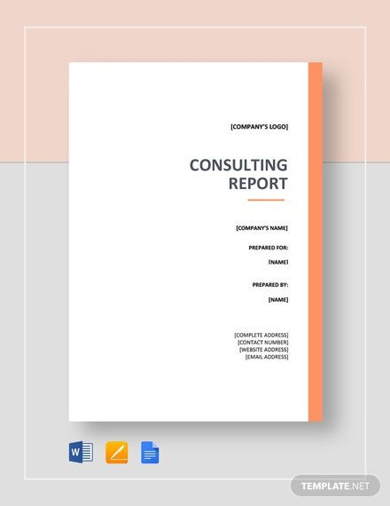 Consulting Report Template Free Pdf Google Docs Word Template Net Business Card Template Word Report Template Templates