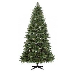 7ft Mixed Spruce Pre Lit Full Artificial Christmas Tree Multicolored Lights Christopher Knight Home Christmas Tree Plastic Christmas Tree Diy Christmas Tree Ornaments