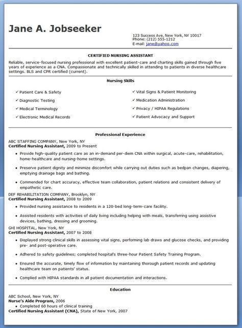 Free Sample Certified Nursing Assistant Resume Certified Nursing Assistant Nursing Assistant Certified Nurse