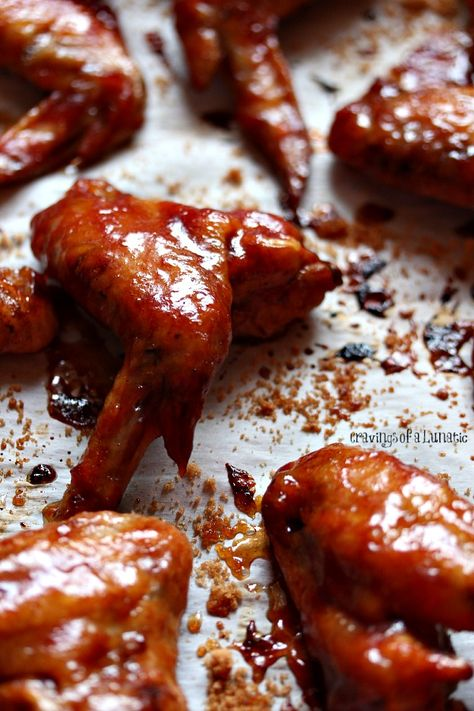 Slow Cooker Chicken Wings | These wings are cooked in the slow cooker with root beer and barbecue sauce, then  slathered in more sauce, sprinkled with brown sugar, and browned for just a few minutes. Absolutely delightful!