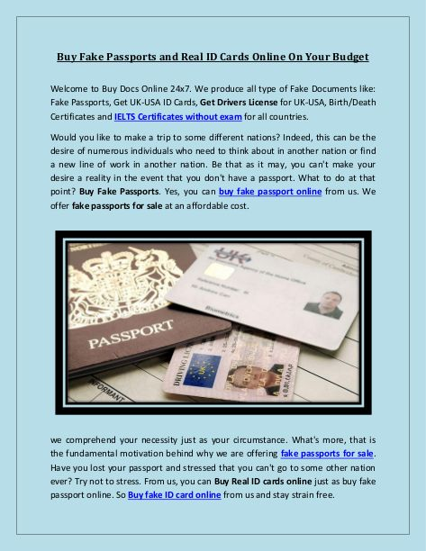 Buy Fake Passports And Real Id Cards Online On Your Budget Edocr Real Id Budgeting Passport Online