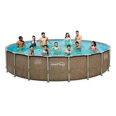 Ad Ebay Summer Waves P4t02048b Elite Frame Pool Set P4t02048b 20 Ft X 48 In Summer Waves Swimming Pools Above Ground Pool Liners