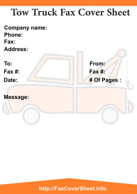 Truck Fax Cover Sheet Printable Truck Fax Cover Sheet Templates - sample confidential fax cover sheet