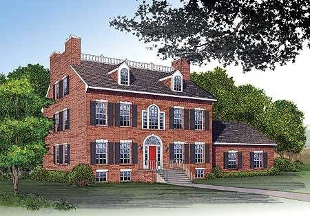 Plan 81131w Classical Georgian Mansion Country Style House Plans Federal Style House Georgian Mansion