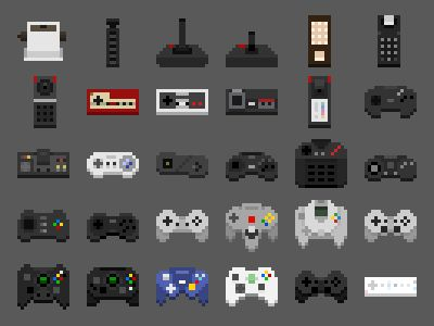 An Abridged History of Game Controllers in 2019 | Pixel Art | Pixel