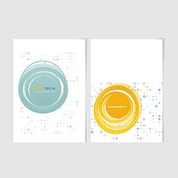 دوائر ملونة و مساحة النص نشرة ناقلات قالب الخلفية والأمامية التصميم تصميم كتيب جمع نماذج ذات خلفية بيضاء Brochure Design Template Brochure Design Colorful Backgrounds