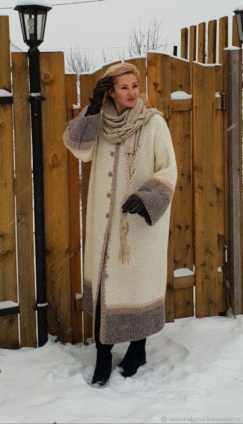 0305f7e8ac4 Верхняя одежда ручной работы. Ярмарка Мастеров - ручная работа. Купить  Пальто Снежный март ручная работа полушерсть. Handmade.