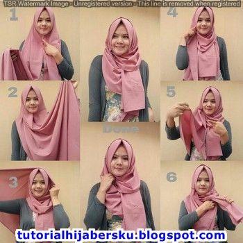 Tutorial Hijab Pashmina Simple Untuk Wajah Bulat Tutorial Hijab Pashmina Gaya Hijab Model Pakaian Hijab