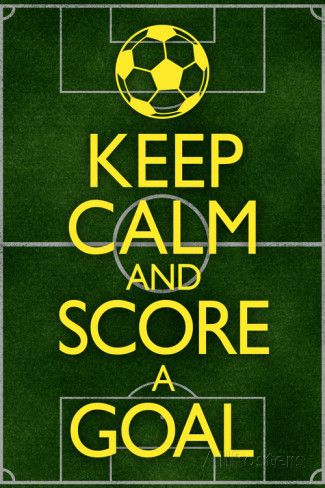 Keep Calm and Score a Goal Soccer Poster Print at AllPosters.com