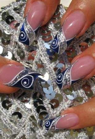 Super nails silver blue purple 31 Ideas